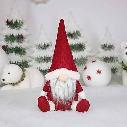 Handfly Decoración navideña Gnomo de Navidad Hecho a Mano Gnomo ...