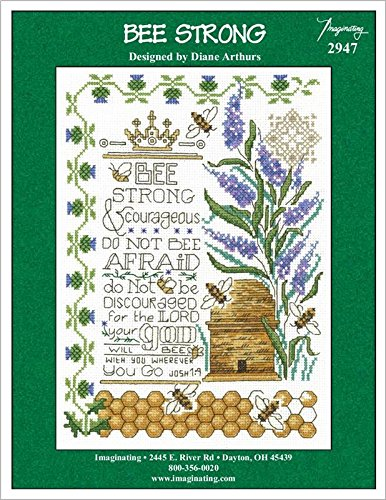 Bee Strong (Model 2947) Cross Stitch Kit and Free Summer Embellishment