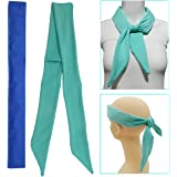 Ice Neck Wrap, Cooling Neck Wrap, Ice Bandana Cooling Ice Pack for Neck, Head, Shoulder, Belly (Teal A)