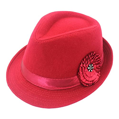 Zhhlaixing Fashion Adult Autumn Winter Sunflower Decor Sombreros Elegant Womens Wide Brim Jazz Hat O...