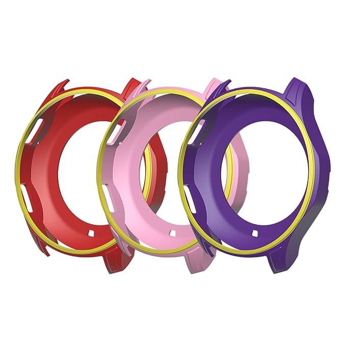 Coque colorée Awinner - Pour montre connectée Samsung Gear S3 Frontier SM- R760 - Résistante aux chocs et aux égratignures - Protectrice - En silicone: ...