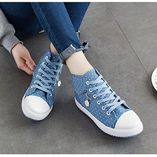 De Textil Top clásicas Lino Zapatos Deportivos De Zapatos Deportivos Zapatos A Patrón Zapatos libreHigh muchachas Zapatillas de Blue Scothen aire De Zapatillas al Flores deporte mujeres amaestradores SZPZpt