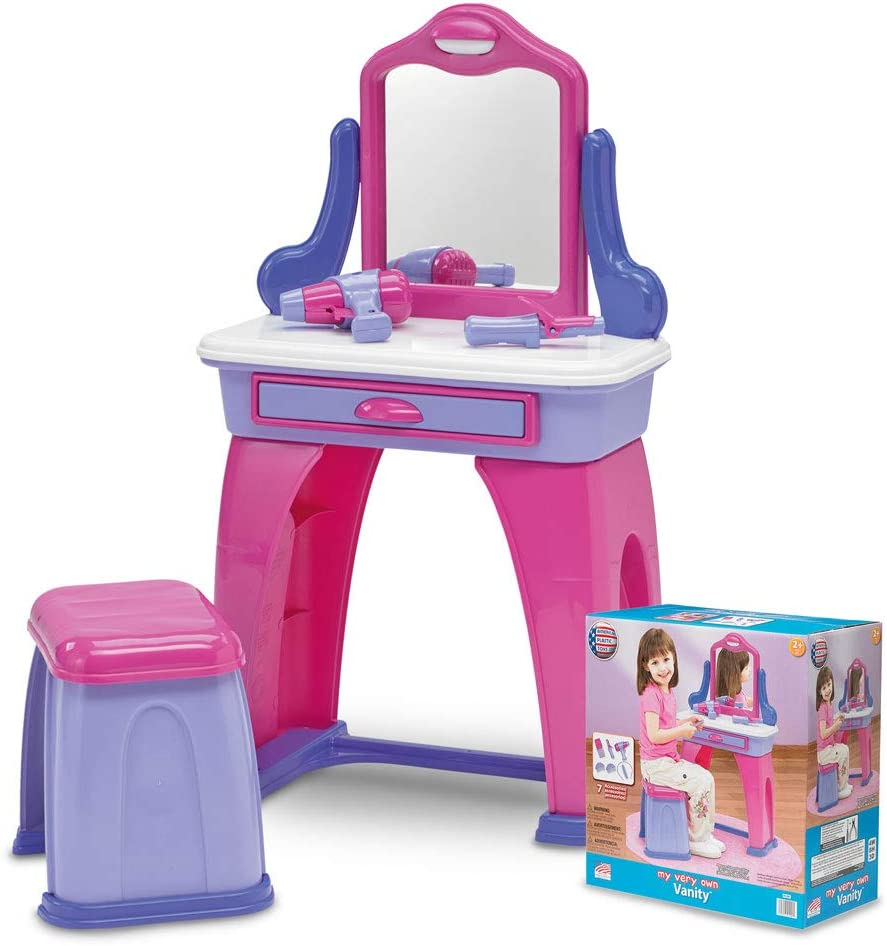 Amazon Com American Plastic Toys Apt 21090 Kids My Very Own Vanity For Kids Ages 2 And Up Furniture Decor
