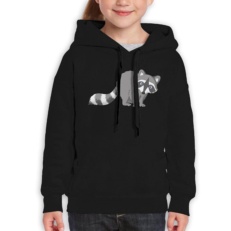 Starcleveland Teenager Pullover Hoodie Sweatshirt Little Gray Raccoon Teen's Hooded For Boys Girls