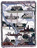 "Washington D.C. Pictorial Tapestry Throw Afghan 50"" x 60"""