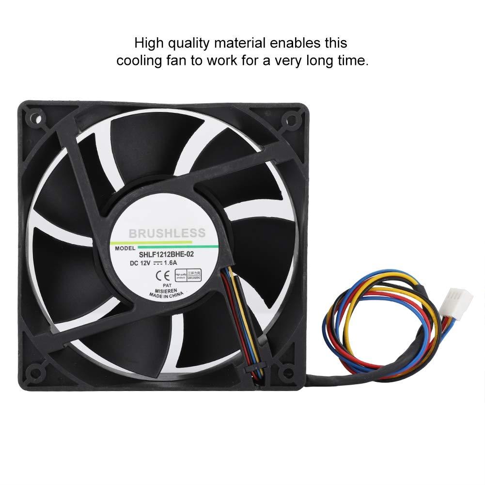 PWM Cooling Fan, DC12V 1 6A 12CM Temperature Control: Amazon