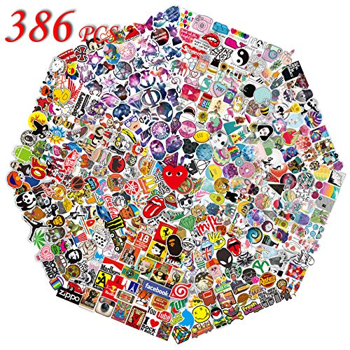 QWDDECO Stickers 386 PCS Hydroflasks Skateboard product image