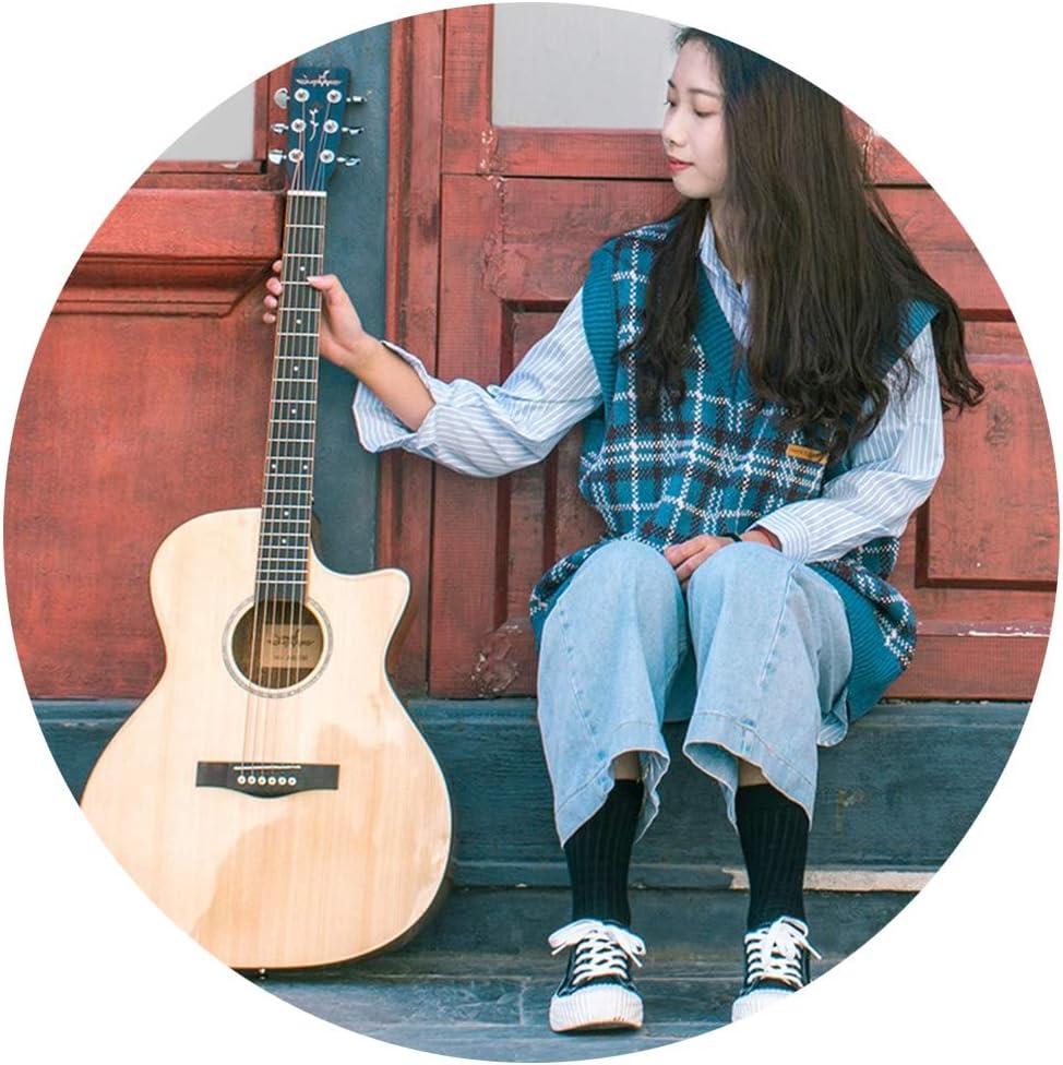 YJFENG-Guitarra Acústica Cuerdas Ligeras De Tono Puro De Abeto De ...