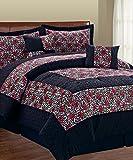 Serenta 6 Piece Animal Style Bed in a Bag Set, Queen, Leopard Flower