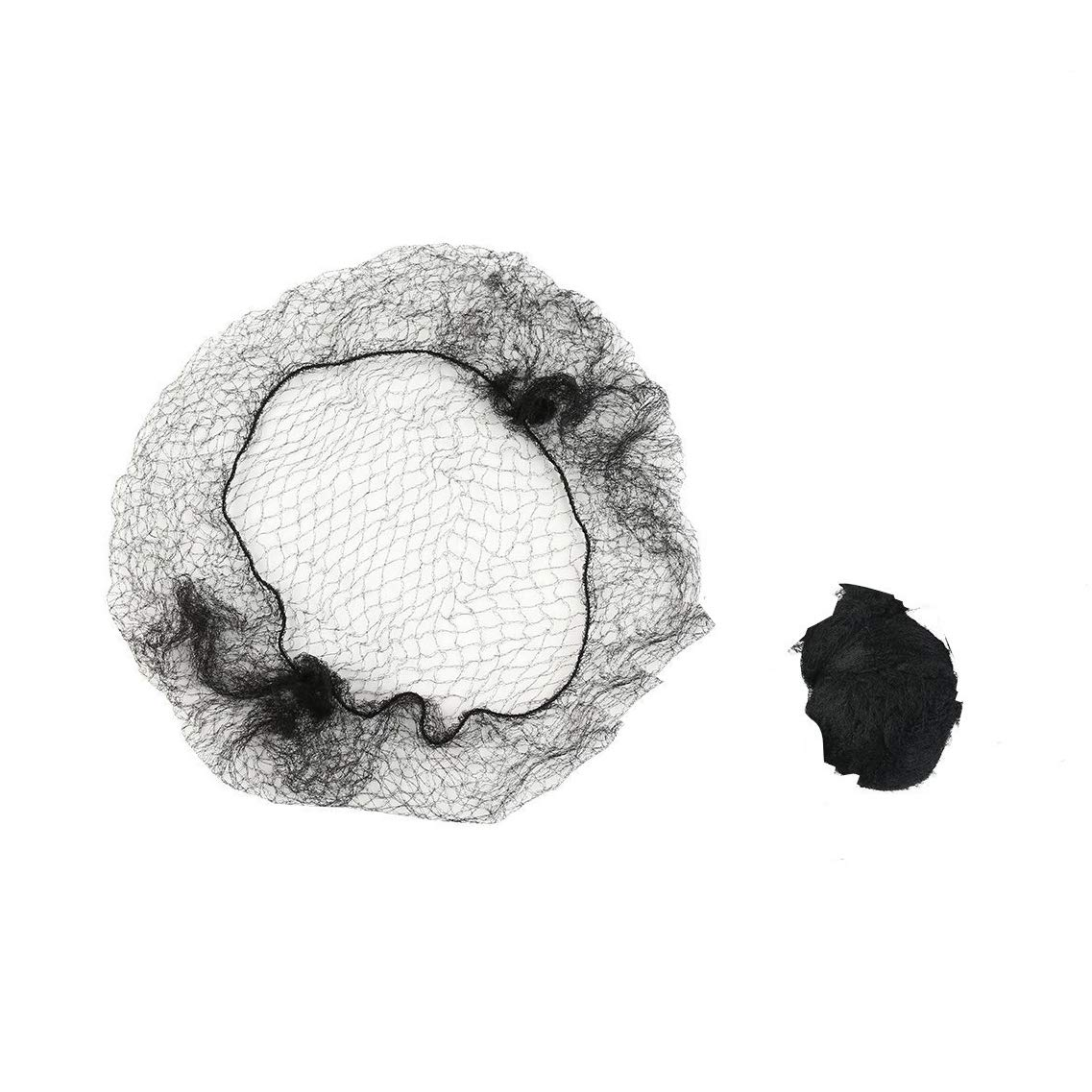 60Pcs Hair Nets Invisible Elastic Edge Mesh Reusable Bun Hair Nets for Ballet Dance or Food Service (20 Inches/50cm, Black)