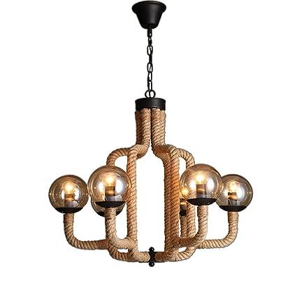 UOOGOU Lámparas de techo Lámparas colgantes de hierro, 6 ...