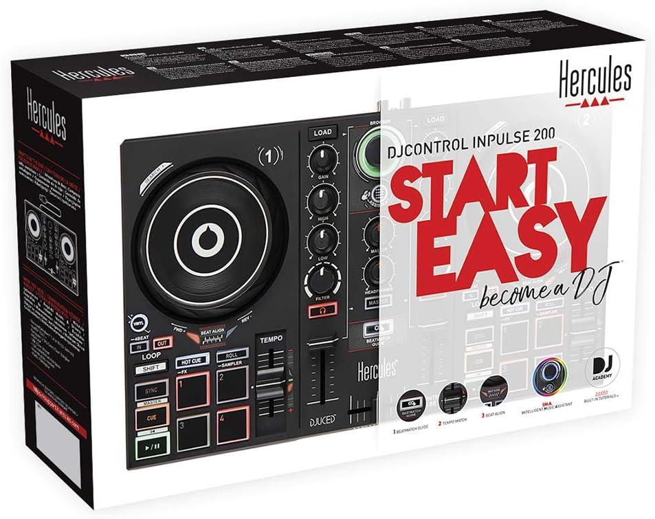 Hercules DJControl Inpulse 200 USB Ideal para Aprender a Mixer 2 ...
