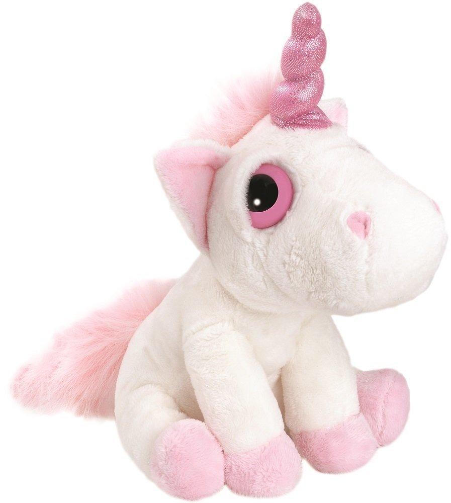 White and Pink, Small Suki Gifts Mystical Little Peepers Bella Unicorn Soft Boa Plush Toy