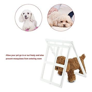 Zerone Puerta para Mascotas Plástico, Puppy Gatos Puerta de la Pantalla de Bloqueo Magnético Barrera de Seguridad: Amazon.es: Productos para mascotas