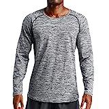 Mens Fast Dry Shirt Jiayit Autumn Winter Sports Fitness Loose Elastic Blouse