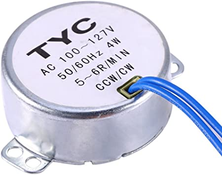 Turntable Synchronous Synchron Motor 5-6RPM AC100-127V 50//60Hz 4W