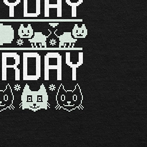TEXLAB - Everyday Caturday - Damen Kapuzenpullover, Größe XL, schwarz