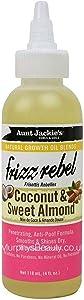 Aunt Jackies - Frizz Rebel con aceite de almendra dulce y coco, 118 ml