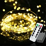 EShing Plug in Fairy Lights with Remote Control Timer, 8 Modes 33ft 100 LED Dimmable String Lights, Waterproof Firefly Starry