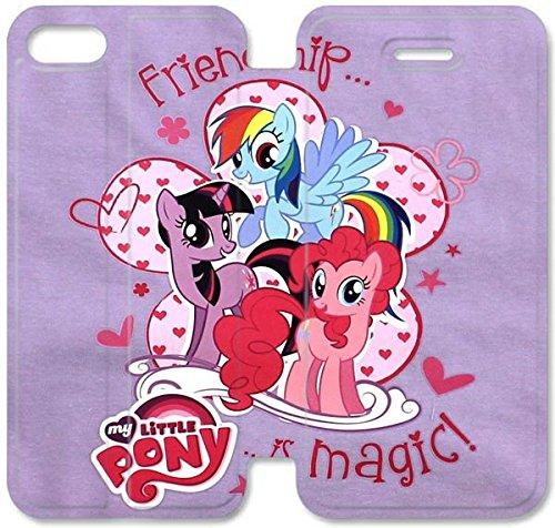 Coque iPhone 6 6s 4,7 pouces Coque Cuir, Klreng Walatina® 6 6s PU Cuir de portefeuille Coque Design By Little Pony Cartoon Widescreen Lumia C8K7Re