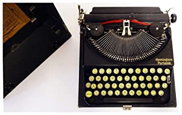 Unbekannt Remington Portable, Histórica, Extremadamente Plana Viaje Máquina de Escribir de los Estados Unidos. id19383: Amazon.es: Juguetes y juegos