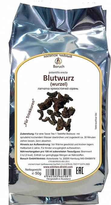 Blutwurz - (Potentilla erecta, Dilledapp, Durmentill, Natternwurz, Rotwurz, Ruhrwurz, Siebenfinger, Tormentill) - 50g