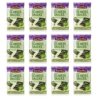 Annie Chun's Roasted Seaweed Snacks, Wasabi, 0.35-ounce (Pack of 12)