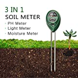 Soil pH Meter by FindUWill, 3 in 1 Soil Test Kit for Moisture, Light & pH/Acidity, Gardening Tools for Home and Garden, Lawn, Farm, Plants, Indoor & Outdoor Plant (No Battery Needed) (Green) Review