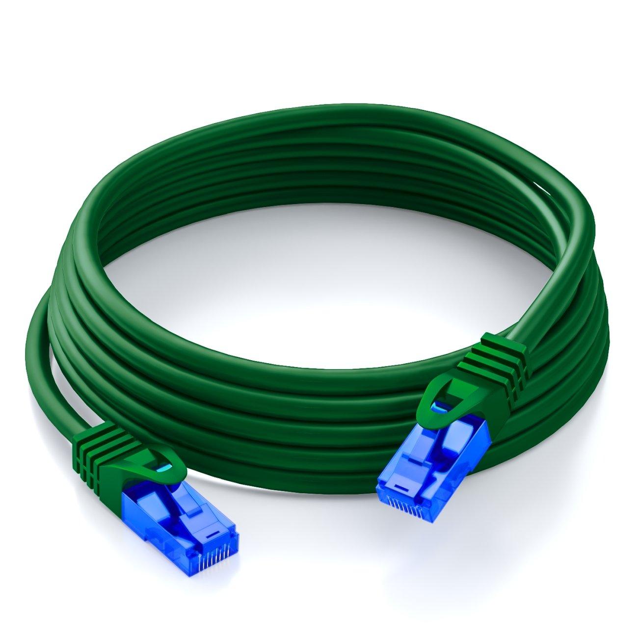 deleyCON 20m Cat.6 Ethernet Gigabit LAN Cable de Red RJ45 CAT6 Cable de Conexi/ón U//UTP Compatible con Cat.5 Cat.5e Cat.6a Cat.7 Gris