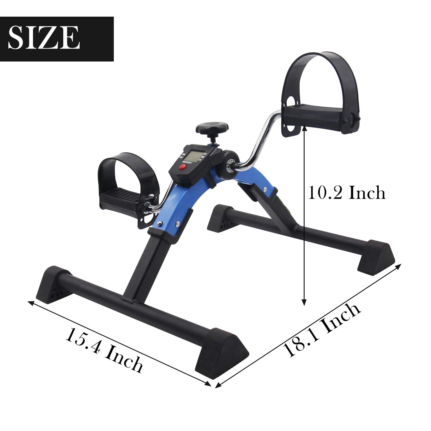 Friday discount Stationary Exercise Bike Indoor Under Desk Pedal Exerciser with LCD Monitor and Adjustable Resistance Fitness Foot Bike Blue by Friday discount (Image #3)