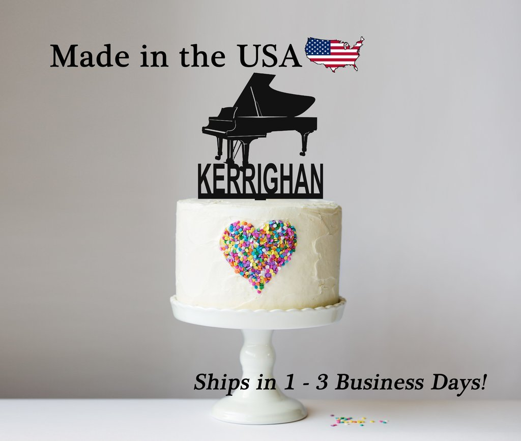 Grand Piano Cake Topper with FREE Keepsake Base, Personalized Topper, Musician, Piano, Music Teachers, Party Supply, Cake Decor, Pianist, Surprise Party
