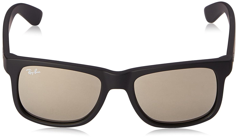 Ray-Ban - Justin – Marco lentes Negro de goma Marco color café claro ...