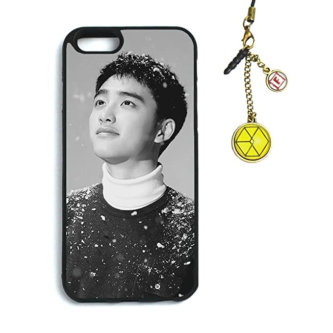 quality design 5e053 37aee Fanstown Kpop EXO iPhone 6/6s case Sing for You + Dust Plug Charm (B06)