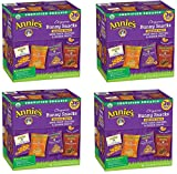 Annies Organic Variety Pack, Cheddar Bunnies and Bunny Graham Crackers Snack Packs, 36 Pouches, 1 oz Each EIVxAi, 4 Pack
