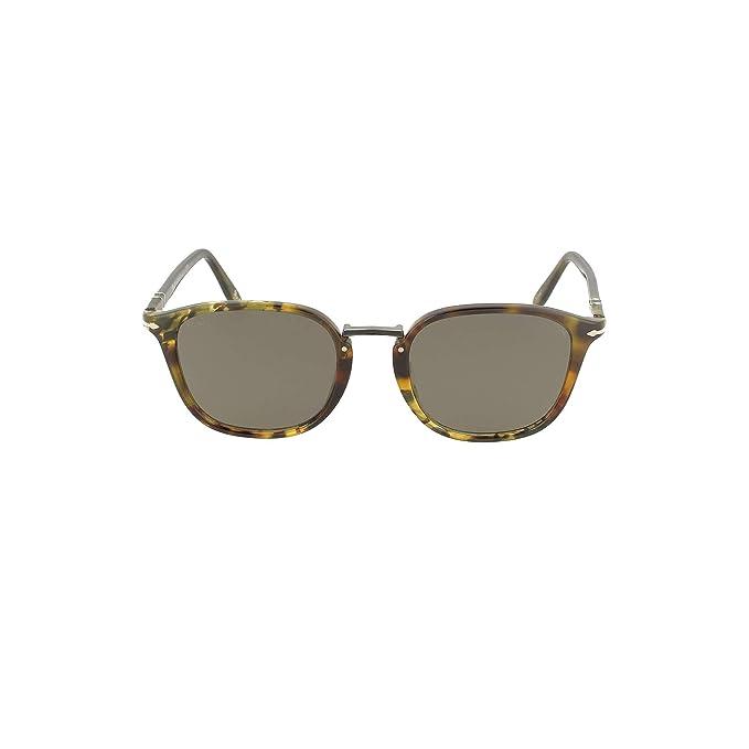 Persol 0PO3186S Gafas de sol, Wrap, 51, Tortoise Green Brown