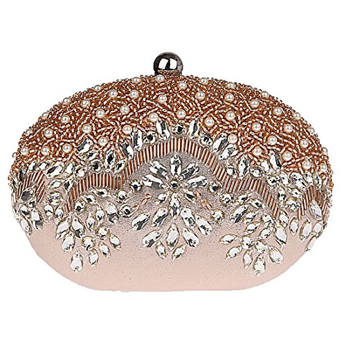 HT Evening Clutch Purse - Cartera de mano para mujer Rosso