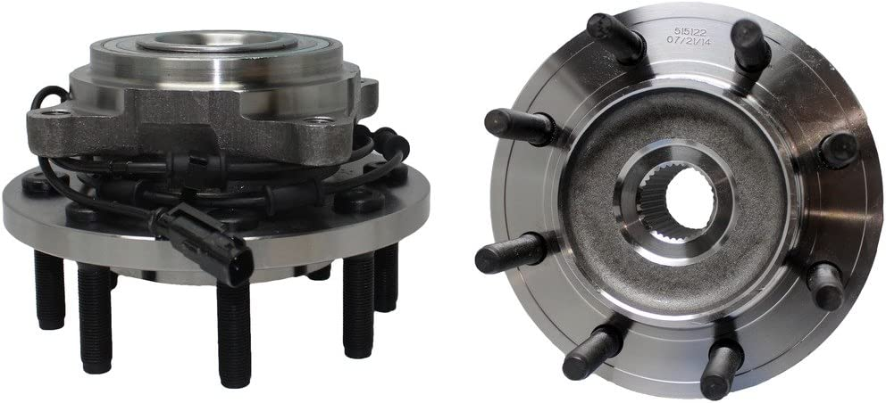 8 lug Two 515122 Front Wheel Bearing Hub Assembly for Dodge Ram 2500 3500 2009 2010 2011 4WD