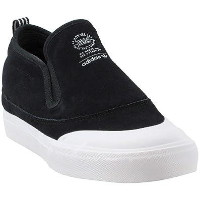 buy popular 3b951 8ad93 adidas Matchcourt Mid Slip-On (Core Black White Gum) Mens Skate