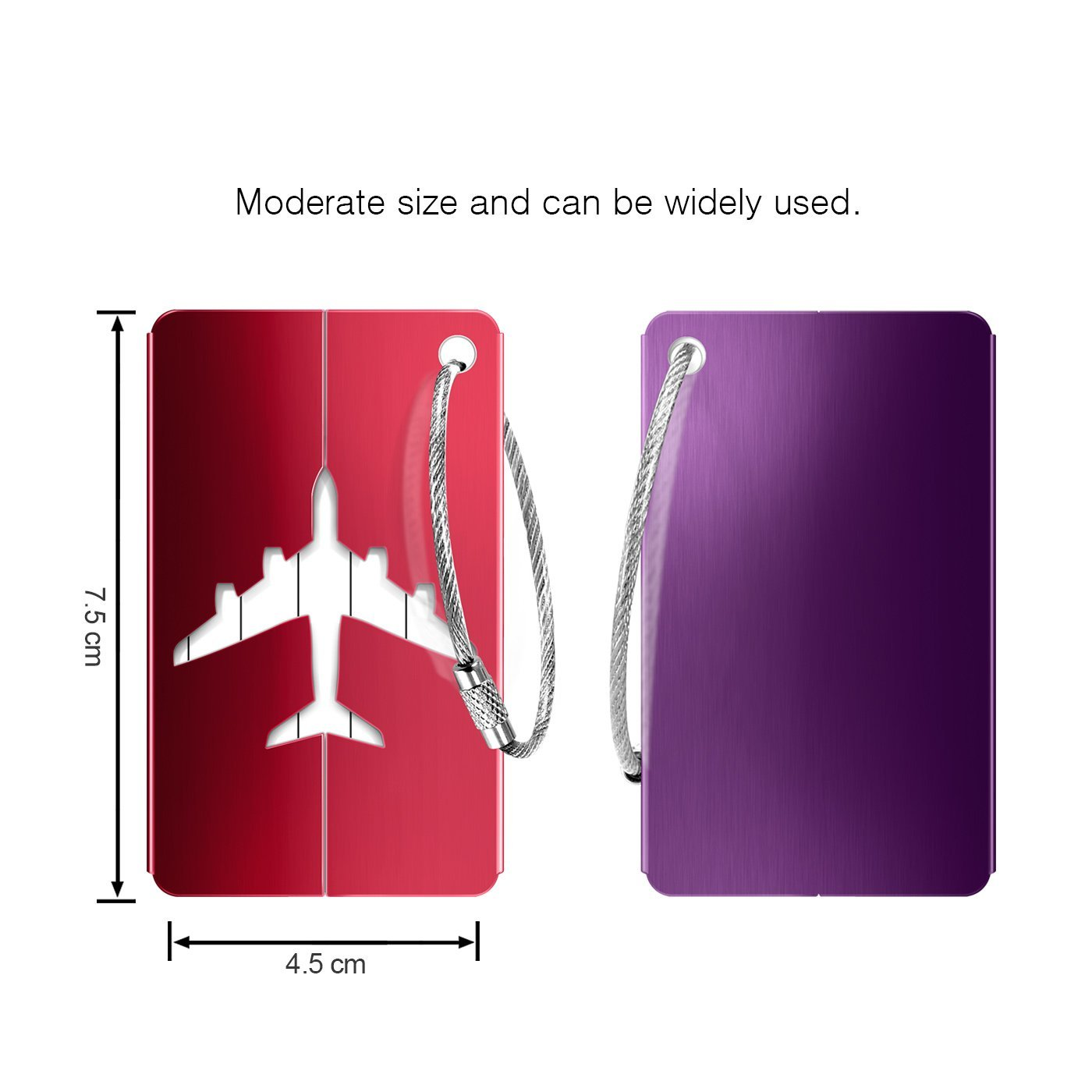 Luggage Tags 10pcs,Baggage Tags Tag Labels with Business Card Holder(10 colors) by Yosemy (Image #5)