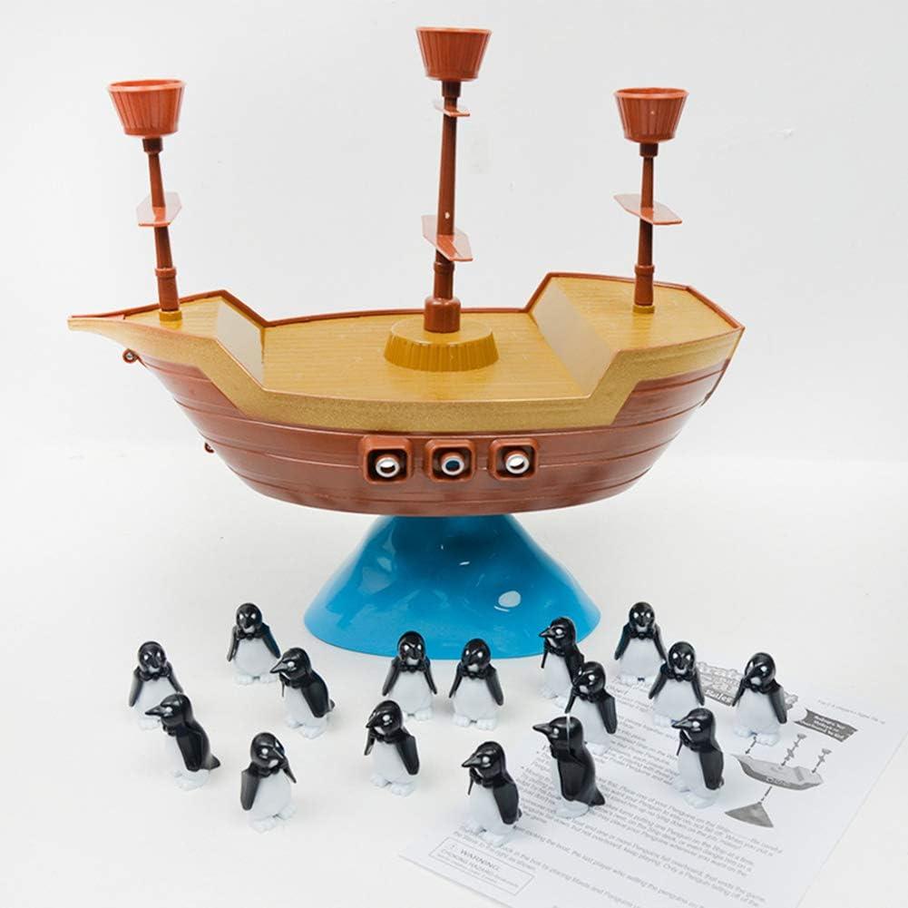 0Miaxudh Balancing – Juego de Tabla de Juguete, Divertido Barco Pirata, pingüino Balancing, Juego de Mesa, Juguete Interactivo para niños: Amazon.es: Hogar