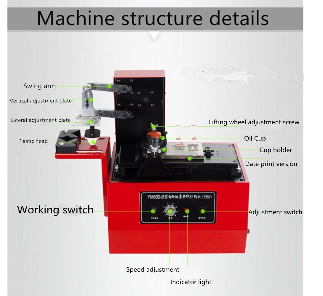 Amazon com: NEWTRY YM600-B Electric Pad Printer Printing