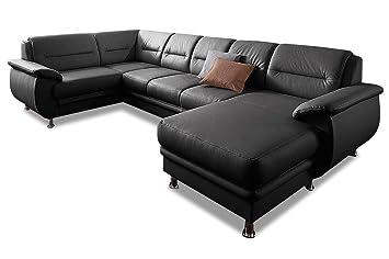 Sofa Couch Premium Leder Wohnlandschaft Venedig Mit Schlaffunktion
