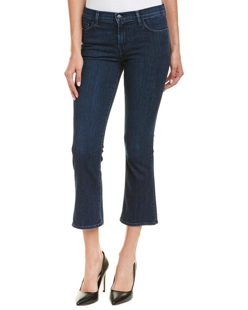 J Brand Jeans Women's Selena Mid Rise Crop Boot Jeans, Dark Vibes, 28