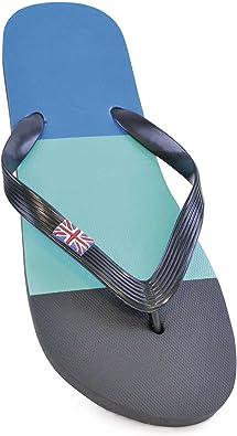 Chancla Caballero para Piscina/Playa Chancleta 3 Colores Bandera Reino Unido (41-42 EUR/Negro/Turquesa/Azul): Amazon.es: Zapatos y complementos