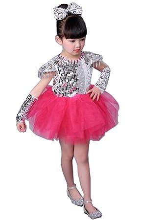 2826269fb2981 スパンコール ダンス衣装 ジャズダンス衣装 ワンピース 子供 キッズ 女の子 男の子 ステージ衣装 ヒップホップ チュール