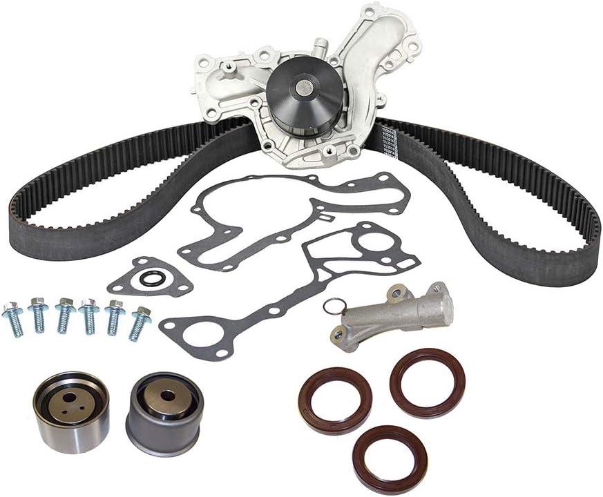 DNJ TBK161WP Timing Belt Kit with Water Pump/for 2001-2006 / Mitsubishi/Montero / 3.5L, 3.8L / SOHC / V6 / 24V / 215cid, 230cid / 6G74, 6G75