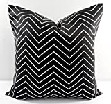 Black & white Chevron Pillow cover. Sham cover. throw Pillow cover. Select size.