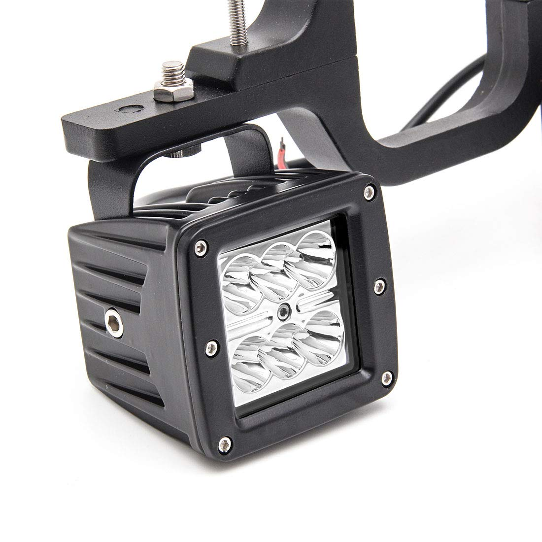 Autokun 2.5 inch Universal Car Tow Hitch Mounting Bracket with 16w LED Backup Reverse Light for Toyota FJ Cruiser Offroad SUV Truck Trailer