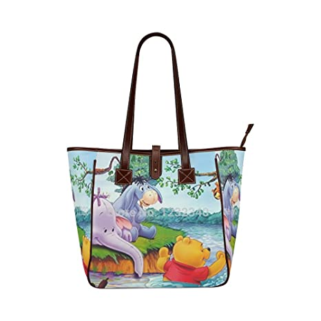 d4705cf7ae9f Custom Winnie the Pooh and Friends Classic Leather Tote Bag Handbag Shoulder  Bag for Women Girls By Boom~Shakalaka  Amazon.ca  Sports   Outdoors