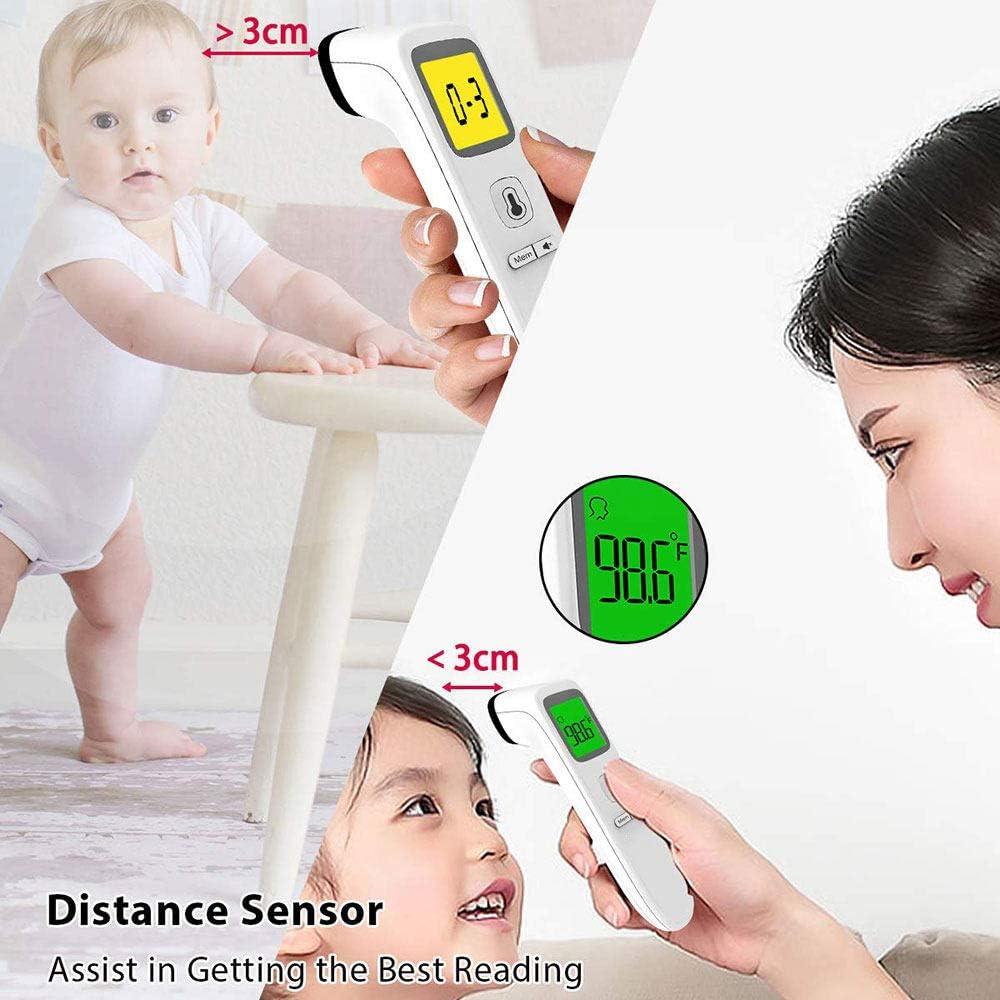 digitales Thermometer mit Fieberanzeige f/ür Babys Stummschaltung inklusive Kinder und Erwachsene Doppelsonden sind genauer ZHLZH Infrarot medizinisches Thermometer